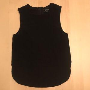 Theory Hodal Black 100% Silk sleeveless tank top S